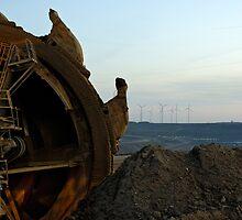 Excavator, Garzweiler ll mine, Germany. by David A. L. Davies
