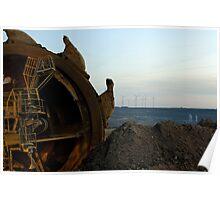 Excavator, Garzweiler ll mine, Germany. Poster