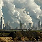Lignite fired power station Germany. by David A. L. Davies