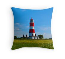 Happisburgh Lighthouse, North Norfolk Throw Pillow