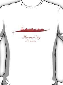 Panama City skyline in red T-Shirt