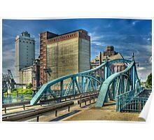 Historic swing bridge, Krefeld, Germany. Poster