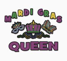Mardi Gras Queen One Piece - Short Sleeve
