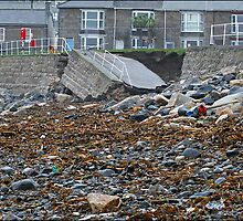 """ Recent Storms took away Penzance sea front"" by Malcolm Chant"