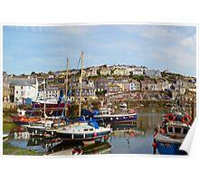 Boats at Mevagissey, Cornwall Poster