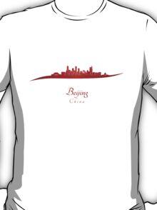 Beijing skyline in red T-Shirt