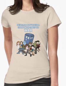 Demons Run When A Good Man Goes to War Womens Fitted T-Shirt