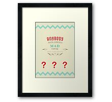 Doctor Who - Seventh Doctor Quote Framed Print