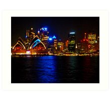 Sydney Harbour and Opera House Art Print