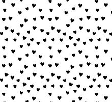 Black and White Heart Pattern by happycheek
