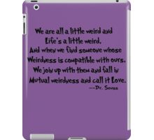 Dr. Seuss on Love  iPad Case/Skin