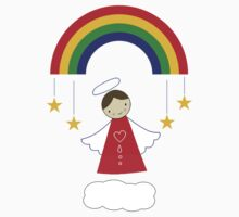 Angels and Rainbows One Piece - Short Sleeve