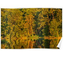 Ogle Lake Reflections 1 Poster