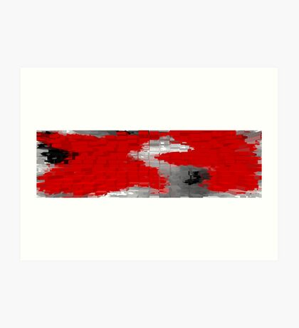 Red and Black Blocks Art Print