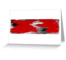 Red and Black Blocks Greeting Card
