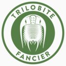 Trilobite Fancier (green on white) by David Orr