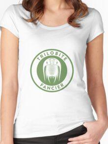 Trilobite Fancier (green on white) Women's Fitted Scoop T-Shirt