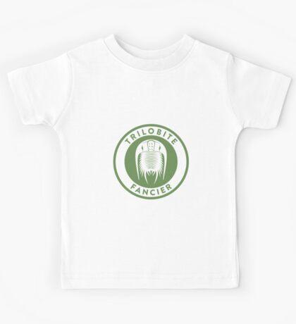 Trilobite Fancier (green on white) Kids Tee
