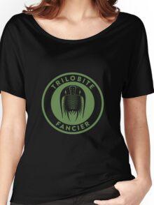 Trilobite Fancier (green on white) Women's Relaxed Fit T-Shirt