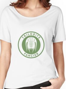 Trilobite Fancier (green on white) Women's Relaxed Fit T-Shirt