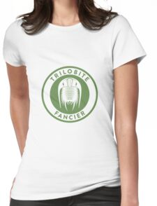Trilobite Fancier (green on white) Womens Fitted T-Shirt