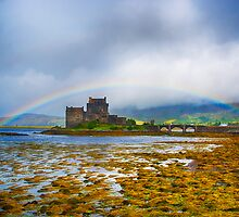 Rainbow over Eilean Donan Castle by Chris Thaxter