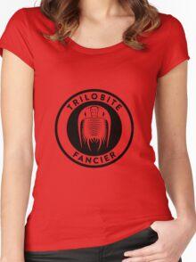 Trilobite Fancier (black on light) Women's Fitted Scoop T-Shirt
