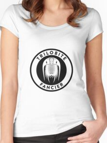 Trilobite Fancier (black on light) Women's Fitted Scoop T-Shirt