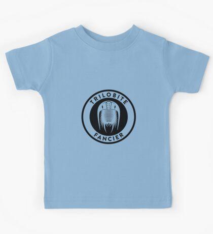 Trilobite Fancier (black on light) Kids Tee