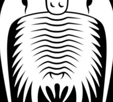 Trilobite Fancier (black on light) Sticker