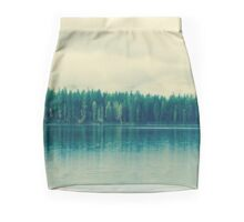 sleepy morning lake Mini Skirt