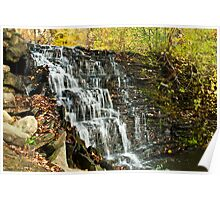 Waterfall in the Fall Poster