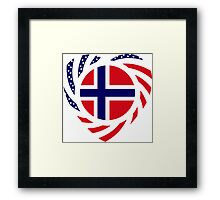 Norwegian American Multinational Patriot Flag Series 2.0 Framed Print
