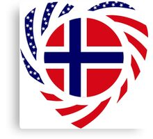 Norwegian American Multinational Patriot Flag Series 2.0 Canvas Print