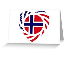 Norwegian American Multinational Patriot Flag Series 2.0 Greeting Card