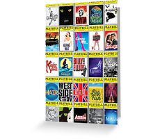 Broadway Playbill Palooza Greeting Card