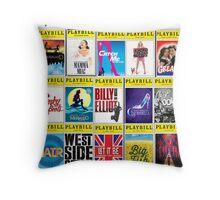 Broadway Playbill Palooza Throw Pillow