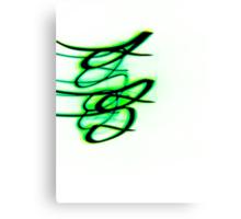 Little Green Bird- Unique Abstract Art Canvas Print