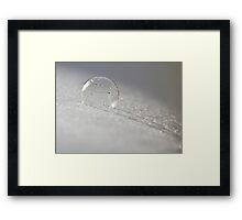 Bubbles in Freezing Temperatures Framed Print