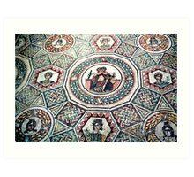 2000 Years old floor mosaic Art Print