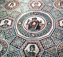 2000 Years old floor mosaic by Arie Koene