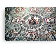 2000 Years old floor mosaic Canvas Print