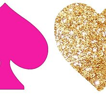 kate spade logo and glitter heart by Emily Grimaldi