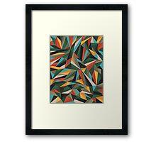 Sliced Fragments Framed Print
