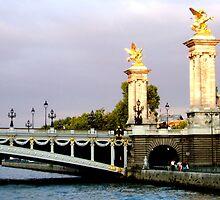 Last sunbeams on Pont neuf by Arie Koene