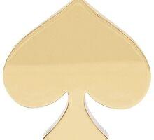 gold kate spade logo by Emily Grimaldi