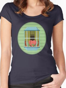 Window to the Heart Women's Fitted Scoop T-Shirt