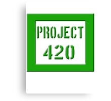 PROJECT 420 green 0001 Canvas Print