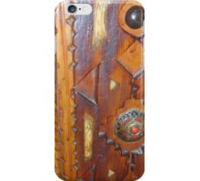 Atlas Travel wooden door Work iPhone Case/Skin