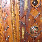 Atlas Travel Wooden Door Work by AnaCanas